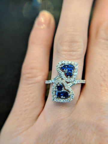 Custom Jewlery Washington DC Dupont Circle Engagement Ring sapphire ethical secrete