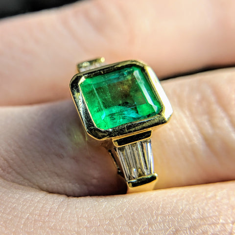 Custom Jewlery Washington DC Dupont Circle Engagement Ring Emerald
