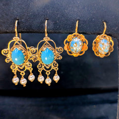 vintage turquoise earrings secrete fine jewelry estate jewelry