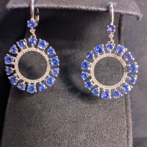 tanzanite diamond earrings dupont circle washington dc bethesda md