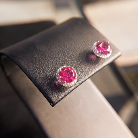 Custom Jewlery Bethesda Maryland Washington DC Dupont Circle ruby diamond earrings