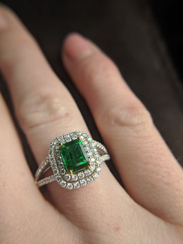 secrete  fine jewelry custom engagement ring best emeralds washington dc