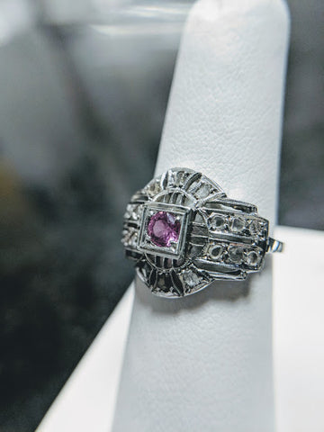 vintage pink sapphire engagement ring secrete fine jewelry estate