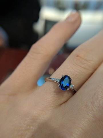 ethical lab grown sapphire ring secrete fine jewelry custom engagement washington dc conflict free