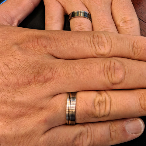 his and his same sex wedding bands engagement rings gay weddings secrete fine jewelry washington dc