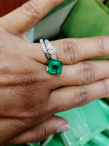 loose aaa emerald engagement ring best custom washington dc secrete fine jewelry dupont circle