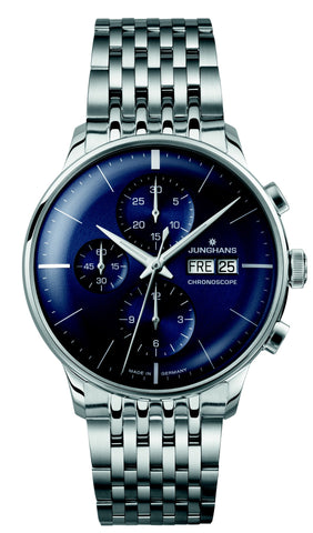 junghans meister chronoscope blue german chronograph watch washington dc secrete fine jewelry best holiday gifts 2019 dupont circle