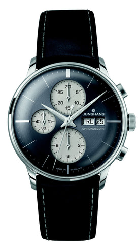 junghans meister chronoscope reverse panda secrete fine jewelry german engineered best value washington dc mens gifts accessories