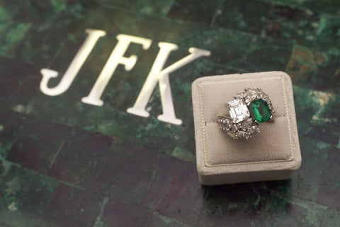 jacqueline kennedy jackie o engagement ring emeralds secrete jewelry washington dc
