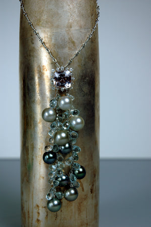 Aquamarine Pearl Necklace