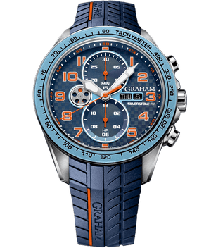 Silverstone RS Racing - Light Blue and Orange Dial