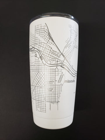 Missoula Map Insulated Tumbler