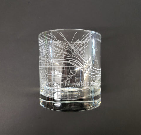 Missoula Map Whiskey Glass