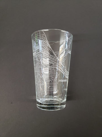 Missoula Map Pint Glass