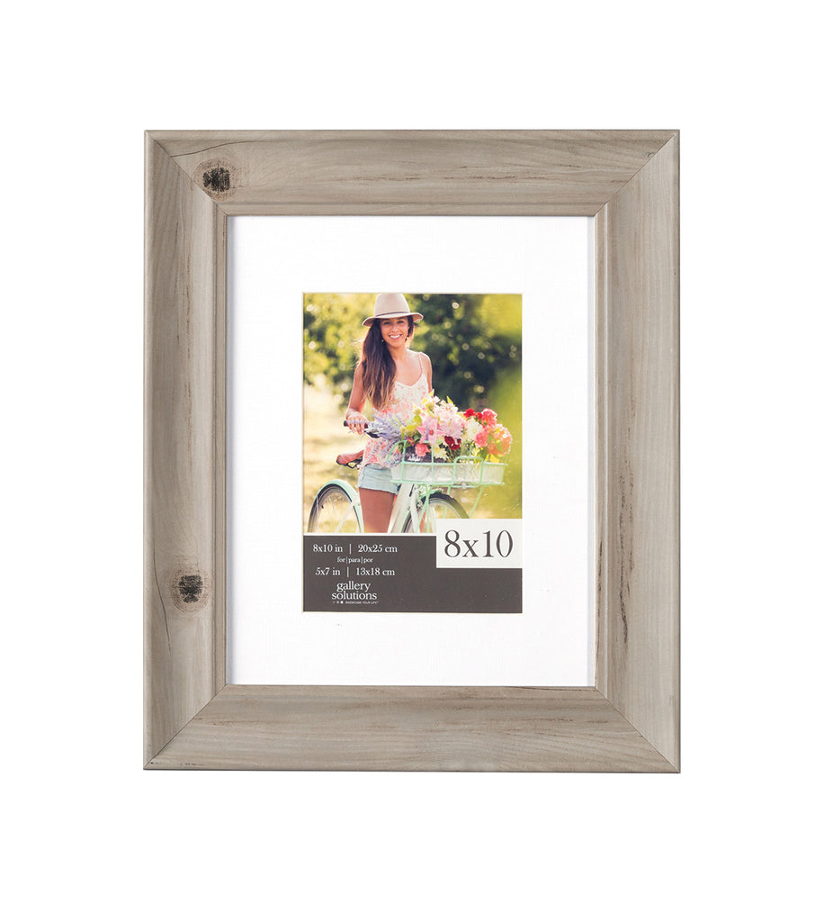 8 x 10 white washed scooped contemporary frame