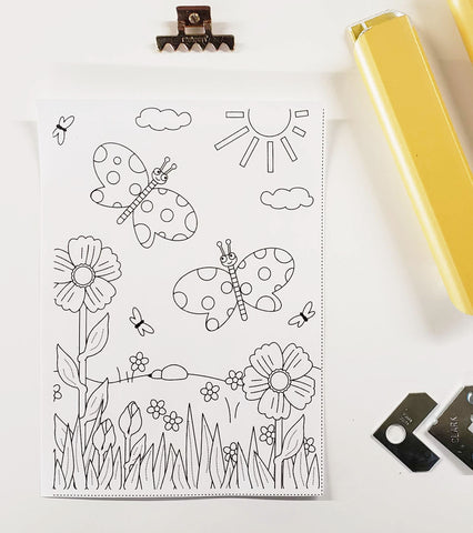 DIY Frame Kit:  butterfly DIY coloring-page