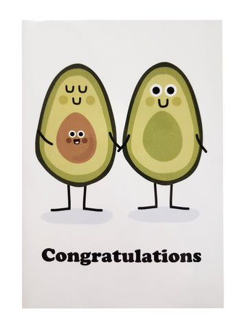 New Baby Card Avocado