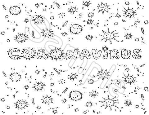 Coloring Greeting Cards- coronavirus