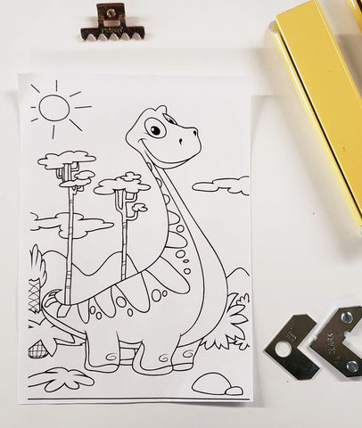 DIY Frame Kit: dinosaur DIY coloring-page