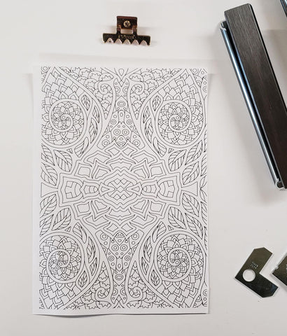 DIY Frame Kit: floral pattern DIY coloring-page