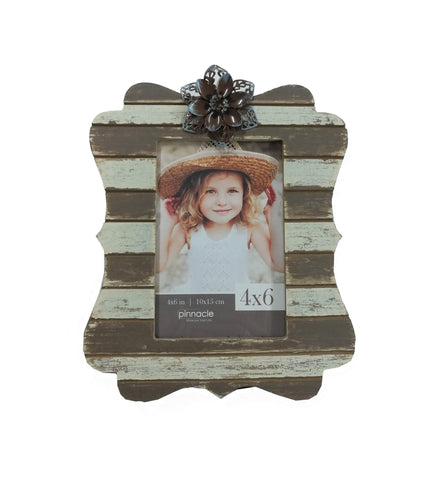 4 x 6 rustic frame with flower