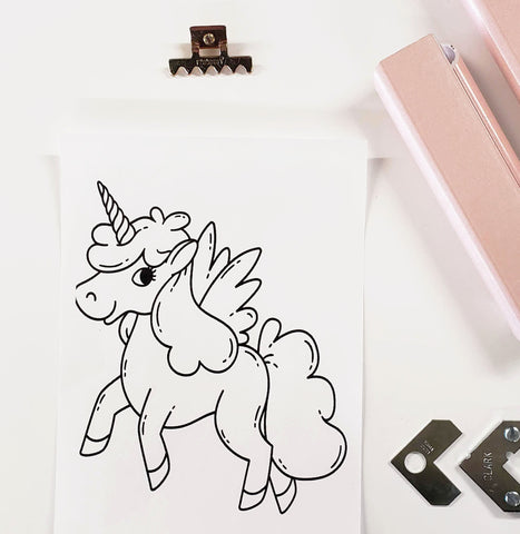 DIY Frame Kit:  pegasus unicorn DIY DIY coloring-page