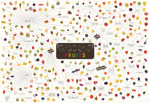 Various Varieties of Fruit