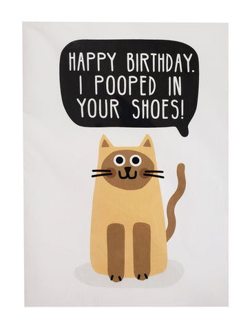 Birthday Card pooped in shoes