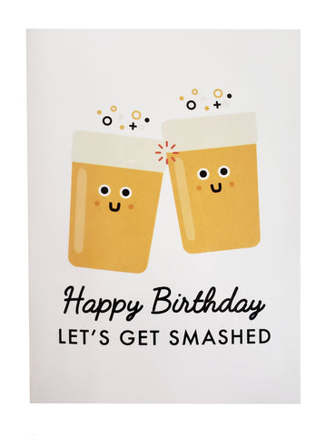 Birthday Card get smashed