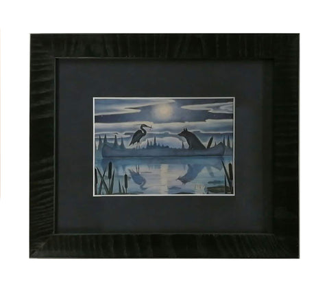 Heron and the Wolf Framed Notecard
