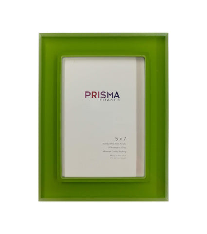 5 x 7 Kermit Green Prisma Photo frame
