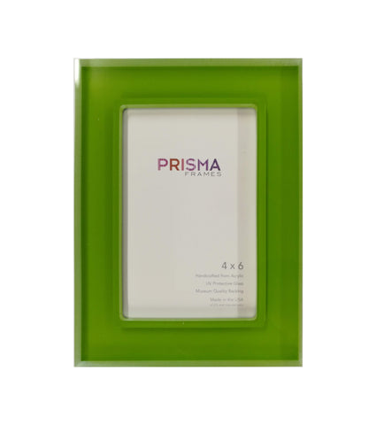 4 x 6 Kermit Green Prisma Photo frame