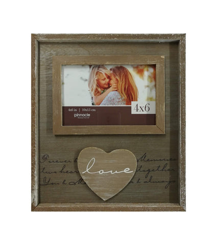 4 x 6 horizontal love heart frame