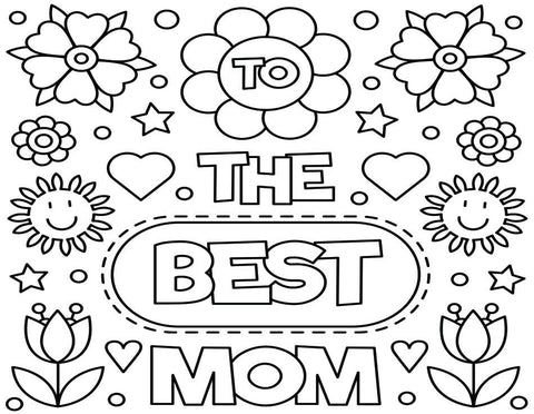 Coloring Greeting Cards- Mother's Day 3