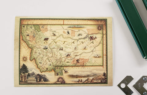DIY Frame Kit: Montana Map by Xplorer map kit