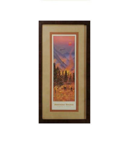 Northern Rockies Fires (small) Framed