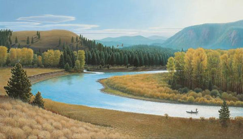 Big Blackfoot River Autumn on Cottonwood Creek - Notecard