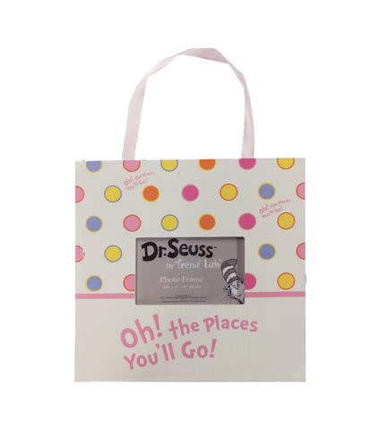 Oh the places you'll go with polka dots kids frame