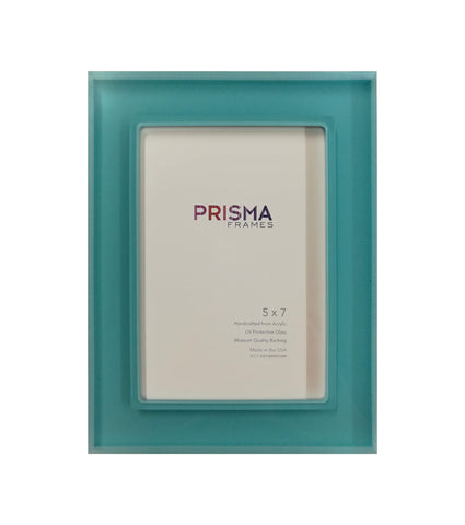 5 x 7 Robins Egg Blue Prisma Photo frame