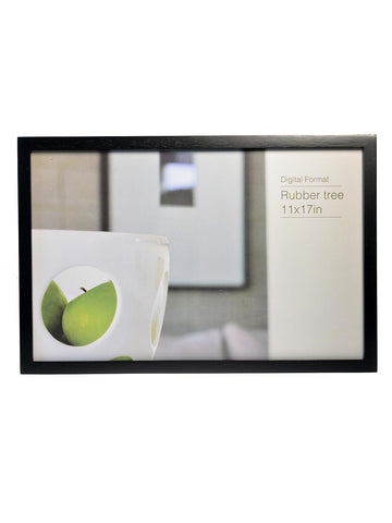 11 x 17 black rubberwood ecocare frame