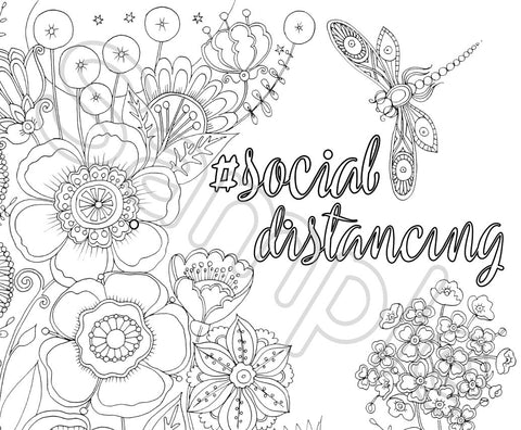 Coloring Greeting Cards-#socialdistancing