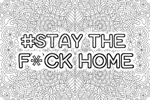 Coloring Greeting Cards-stay the f' home