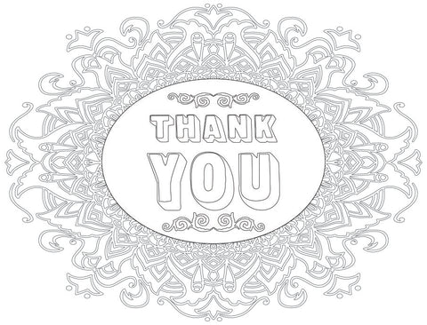 Coloring Greeting Cards- thank you 2