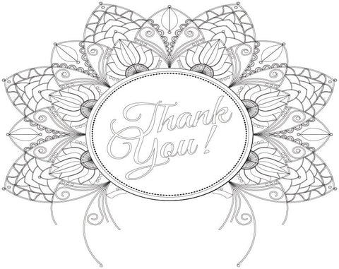 Coloring Greeting Cards- thank you 4