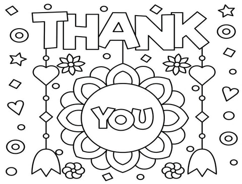 Coloring Greeting Cards- thank you 5