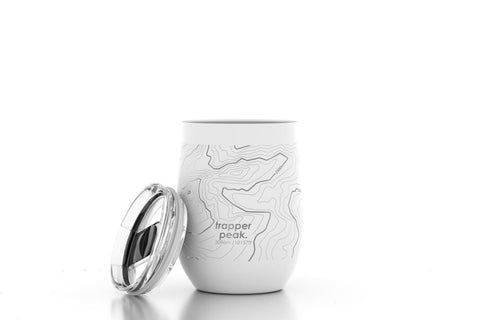 Trapper Peak Topo map Insulated Wine Tumbler