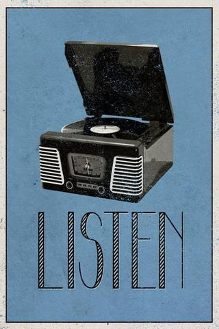 Listen Retro Record player