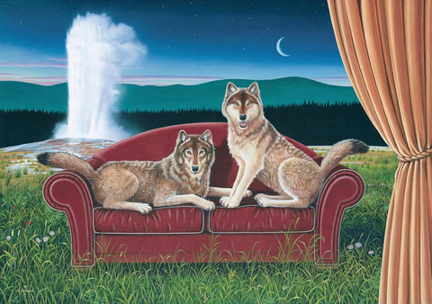 Wolf Dreams - Note card