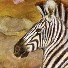 Zebra Run- Note card