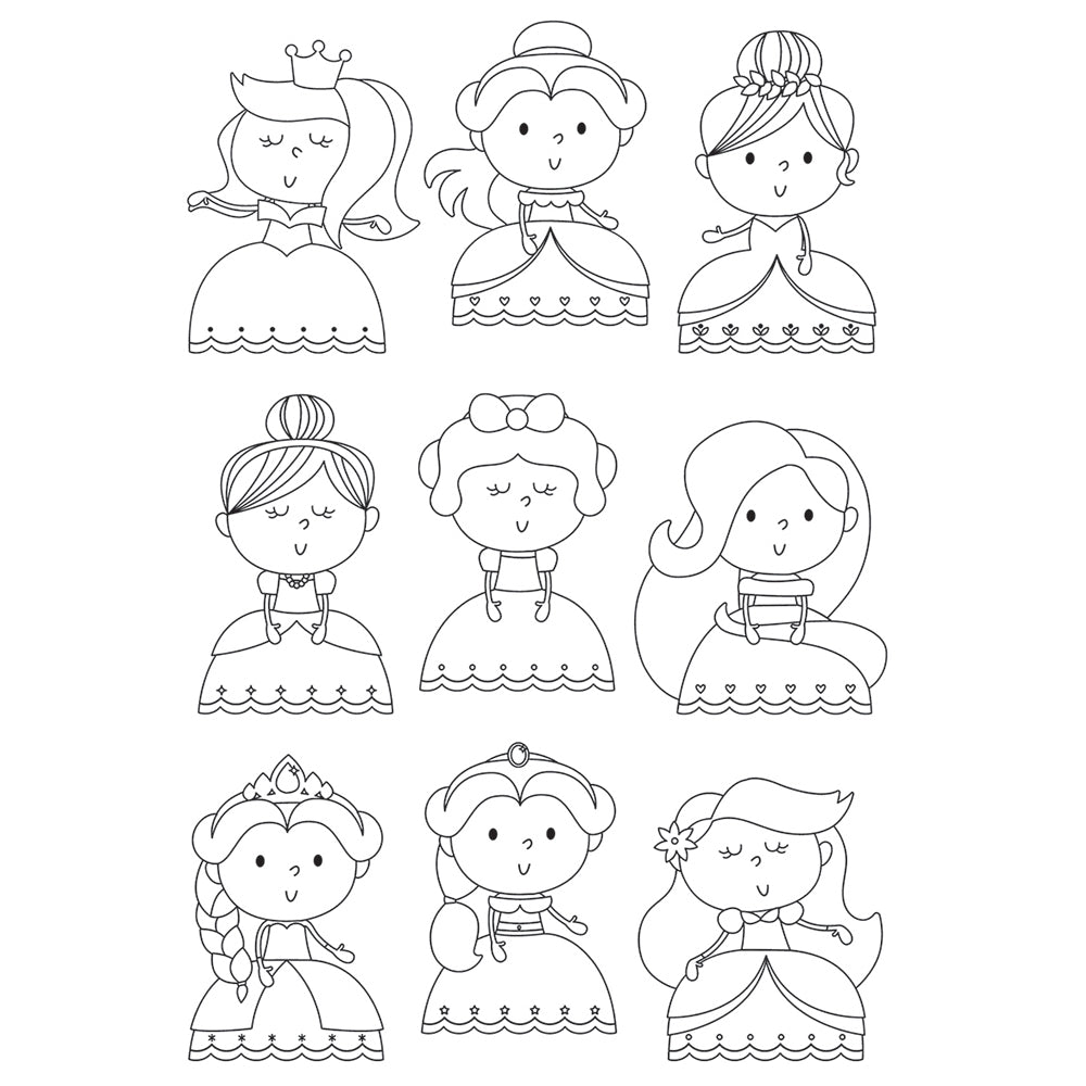 Simple Stories - Little Princess - Pretty Princess 4x6 Stamps